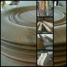 Torneria in legno, particolari. Turning wood, details