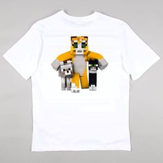 Stampy Cat, Stampylongnose - Barnaby & Mittens , T-shirt Girls Boys Gaming Age 5 - 16 years - Free Personalisation.