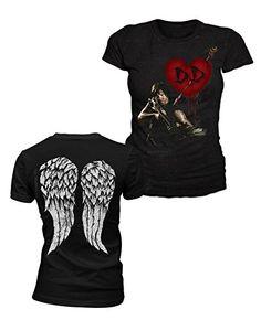 The Walking Dead - Damen T-Shirt - Dixon Love (Schwarz) (S-L): Amazon.de: Bekleidung