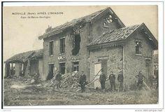 Merville - La gare de Basse-Boulogne après l'invasion