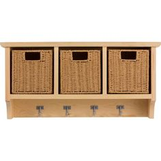 Buy HOME Pine Wall Storage Unit with Baskets at Argos.co.uk - Your Online Shop for Storage units, Storage, Home and garden.