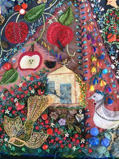 Apples, Birds and the Shed by Robyn Ginn from Crazy Quilt