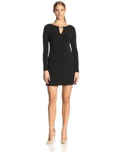 Vince Camuto Women's Long Sleeve Shift Dress with Keyhole Neck and Hardware, Black, 10 Vince Camuto,http://www.amazon.com/dp/B00H9TSWVY/ref=cm_sw_r_pi_dp_E2Qntb18WNM919QN