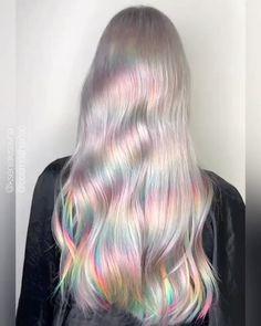 Hair Color Purple, Green Hair, Blue Hair, Mint Hair, Glitch, Pastel Rainbow Hair, Soft Grunge Hair, Pelo Multicolor, Candy Hair