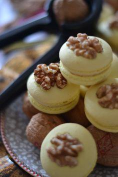 Walnut & Honey French Macarons