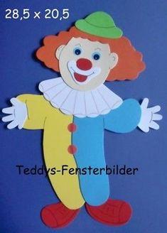 Teddys Fensterbilder 14 ´ Clown 3 ` Tonkarton