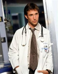 Noah Wyle- He's such a cutie! :) back in the day, ahem*the 80's), we would've said, he's such a babe!