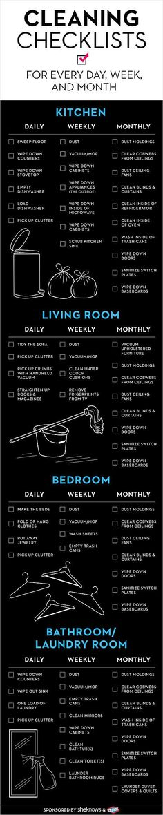 Cleaning Checklist - Have you done it - Life Hacks Diy Cleaning Products, Cleaning Solutions, Cleaning Hacks, Cleaning Routines, Room Cleaning Tips, Norwex Products, Kitchen Cleaning, Fridge Cleaning, Cleaning Quotes