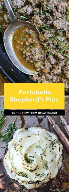 7. Portobello Shepherd's Pies #greatist https://greatist.com/eat/portobello-mushroom-recipes