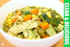 Immunity Boosting Green Chicken + Veggie Soup Recipe