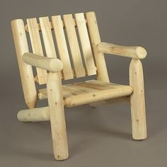 Rustic Natural Cedar Low Back Log Arm Chair