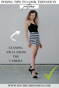 Do you hate the camera because you don't like the way you look or you don't know what to do? Here are 12 posing tips to make you look thinner and skinny in pictures! Best Poses For Pictures, Best Photo Poses, Good Poses, Picture Poses, How To Pose For Pictures Like A Model, Make Pictures, Picture Outfits, Look Thinner, How To Look Skinnier