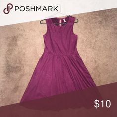 Plum Skater Dress This skater dress is a gorgeous purple/plum shade. It's not too tight at the waist. Very comfortable and hits at or a little above the knee. Xhilaration Dresses
