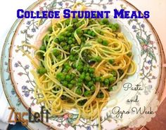 College Student Meals - a week of healthy and inexpensive recipes for busy college students from ZagLeft