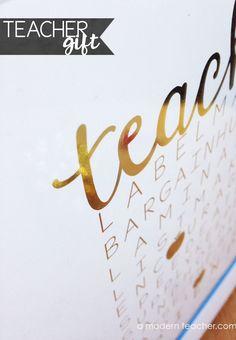 Gold Foil Print for Teachers! $ #treatyourself and your teacher friends