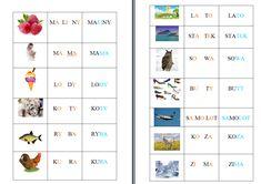 nauka czytania Learn Polish, Website Color Schemes, Polish Language, Montessori, Homeschool, Letters, Teaching, Education, Speech Language Therapy