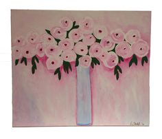 Abstract Flowers, Abstract Art, Multimedia Arts, Acrylic Art, Canvas Art, Number, Fine Art, Painting, Painting Art