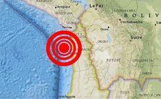 Dos sismos fuertes afectan norte de Chile.