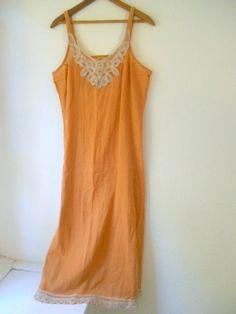 Vintage cotton embellished earth tone Slip dress by houuseofwren