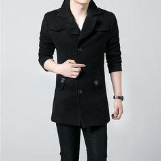 e59f8635cd Winter 2017 Hot Sale Men Windbreaker Men s Trench Coat Men Long section  Casual Jacket Brand Clothing Men s Jackets XXXL Size