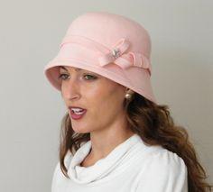 Pink 20s felt cloche   BY M. G.  #millinery #hats #HatAcademy