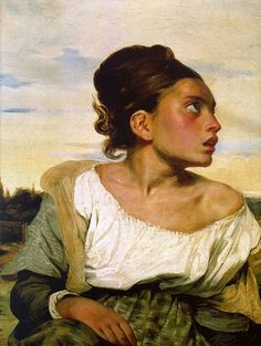 Young Orphan Girl in the Cemetery by Eugène Delacroix (1824)