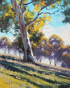 Gum Tree on the Upper Turon Hills / All my paintings are in Oil on Linen canvas using both brush and palette knife / My Originals can be purchased from my website / http://www.landscape-paintings-australia.com / Commissioned Paintings also Accepted, any size / Email me at artsaus@hotmail.com / Join me on Facebook / http://www.facebook.com/graham.gercken • Buy this artwork on stationery y wall prints.