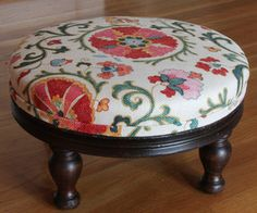 You have to treat a little antique footstool just like an old person, gentleness and kindness.  It turns out, after a little local research, this stoo...
