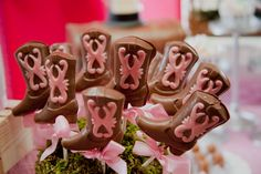 Chocolate lollipops at a Cowgirl Party #cowgirl #party