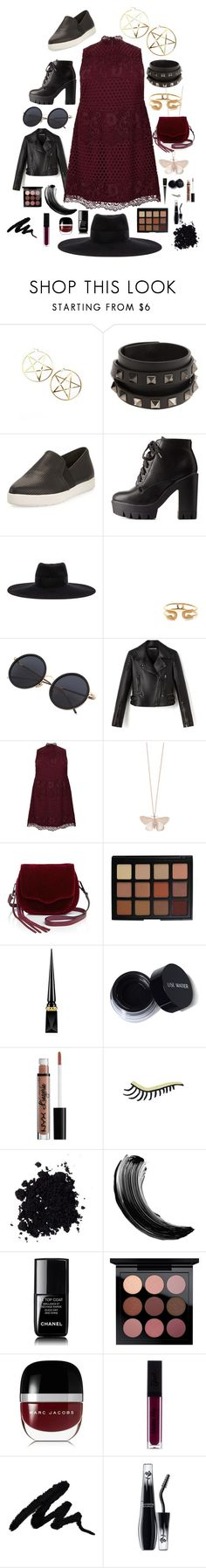 """Grunge Goddess"" by savvy-8201 ❤ liked on Polyvore featuring Killstar, Valentino, Vince, Charlotte Russe, Maison Michel, Jeweliq, New Look, Alex Monroe, Rebecca Minkoff and Morphe"