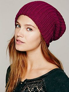 slouchie beanie so all I have to do is style my bangs while I recover from shoulder surgery.  Capsule Slouchy Beanie