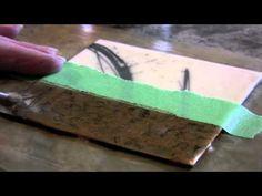 Encaustic Technique 7 Metallic Powder - YouTube