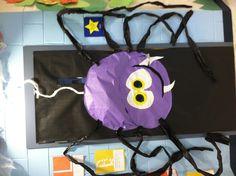 Halloween spider on classroom door