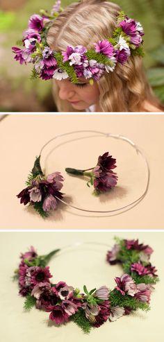 DIY Fresh Flower Crown   DIY Beach Wedding Ideas on a Budget   DIY Beach Wedding Flowers