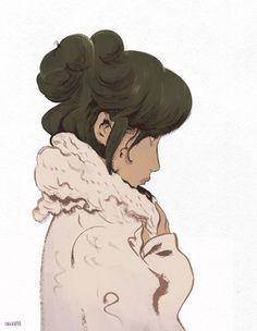 beautiful...illustration of profile of girl