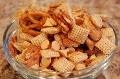Butterscotch Snack Mix - Need to satisfy an extra big snack craving?  This is your recipe.