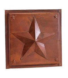 Primitive Rusty Tin Dimensional Star Ceiling Tile - Ceiling Tiles - Home Decor Primitive Bathrooms, Primitive Kitchen, Western Decor, Country Decor, Metal Ceiling Tiles, Tin Star, Star Ceiling, Ranch Decor, Tin Tiles