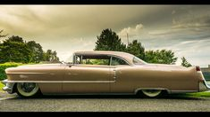 1955 Cadillac Coupe DeVille Custom Bronze god profile