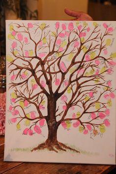 Fingerprint tree as a guestbook!
