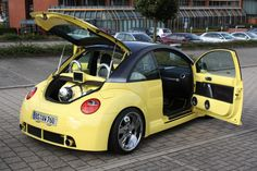Post a favorite pic of your New Beetle! Volkswagon Van, Volkswagen New Beetle, Bug Car, Beetle Convertible, Best Mods, Automobile, Vw Cars, Black N Yellow, Color Yellow
