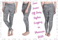 Joes Jeans Off Duty Rythm Legging in Platinum: The Spray Paint Print Rhythm Legging is a mid rise super soft stretch pant w/ flat lock seaming details 4 an incredibly flattering fit. Featuring a cloudy, spray paint print, these leggings will take you through your busy day in style and comfort. •Fabric Content: 78% Nylon, 22% Spandex Details: Visible Seams, Grey And White Pattern Throughout •Product Care: Machine Wash Cold Inside Out With Like Colors, Lay Flat To Dry  Available sizes XS-L
