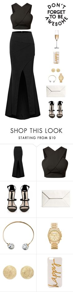 """""""If you wanna get up, get down like this"""" by sashiss ❤ liked on Polyvore featuring Forever New, Brooks Brothers, Monki, Michael Kors, Carolina Bucci, Monika Strigel and RogaÅ¡ka"""