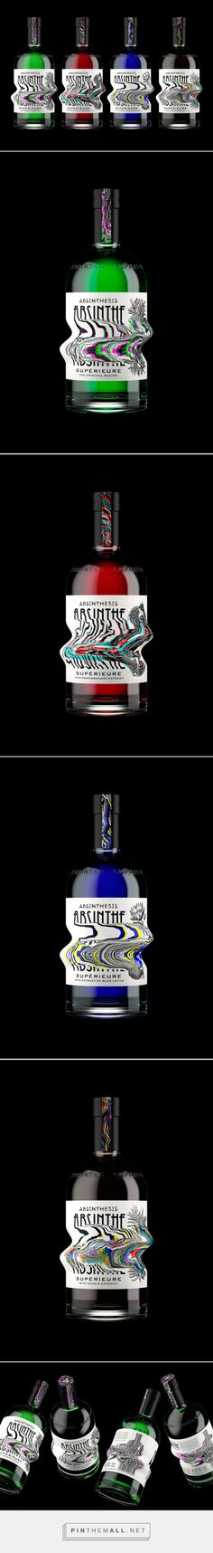 Branding and packaging for ABSINTHESIS. Absinthe Supérieure on Behance by Yevgeny Razumov Moscow, Russian Federation curated by Packaging Diva PD.  Not real packaging but still a cool concept.