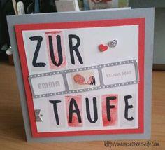 stampin up, Taufe