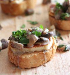 White Wine Mushroom Bruschetta with Halloumi   10 Scrumptious Ways To Serve Halloumi Cheese This Winter Season