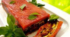 κόκκινη τερίν με ψητά λαχανικά: όλος ο χρόνος καλοκαίρι - Pandespani.com Meatloaf, Tuna, Sandwiches, Roast, Appetizers, Fish, Vegan, Vegetables, Party