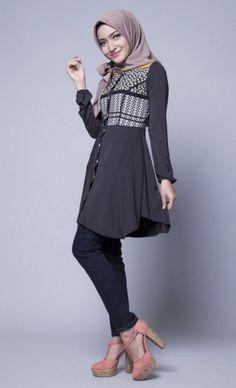 Image result for pakaian kerja wanita berhijab casual Cute Jackets 9183ef7d9b