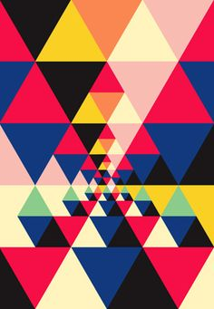 This is a random repeat pattern, as it seems to have no structure. I chose this pattern as i like the triangle pattern inside other triangles, it is weird to look at yet it forms a really lovely pattern. The choice of colours is very effective as they contrast each other.