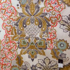 Victoria and Albert PWVA008 Garthwaite Damask Neutral Fabric by Yard