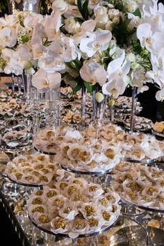 Orquídeas brancas na decoração